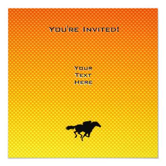 Carrera de caballos invitación 13,3 cm x 13,3cm