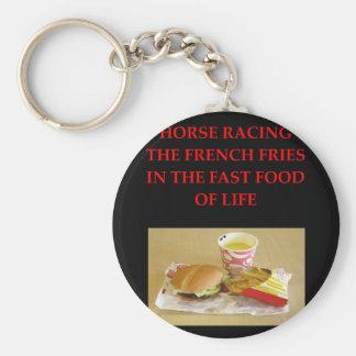 carrera de caballos llavero redondo tipo chapa