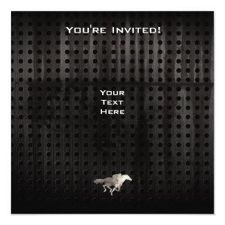 Carrera de caballos rugosa invitación 13,3 cm x 13,3cm