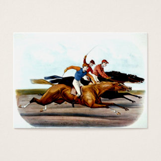 Carrera de caballos SUPERIOR del amor Tarjeta De Negocios