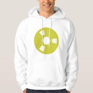 Carrete de cinta de grabación suéter con capucha