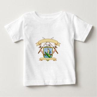 Carrete de la caña de pescar que engancha la capa camiseta de bebé