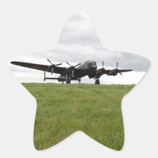 Carreteo de Avro Lancaster Calcomanía Forma De Estrellae