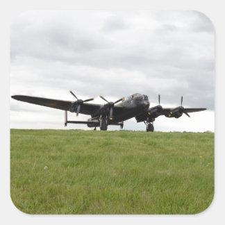 Carreteo de Avro Lancaster Pegatina Cuadrada