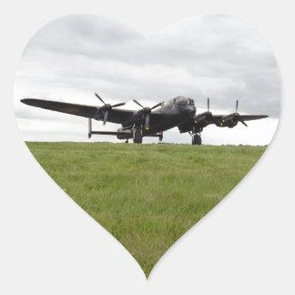 Carreteo de Avro Lancaster Pegatina En Forma De Corazón
