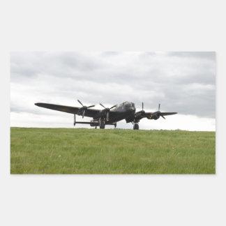 Carreteo de Avro Lancaster Pegatina Rectangular