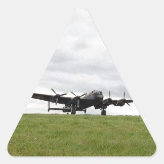 Carreteo de Avro Lancaster Pegatina Triangular