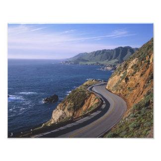 Carretera 1 a lo largo de la costa de California c Fotografia