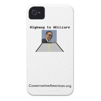 Carretera al caso del iPhone 4 de HELLcare iPhone 4 Case-Mate Protectores
