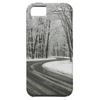 Carretera con curvas curvada nieve funda para iPhone SE/5/5s