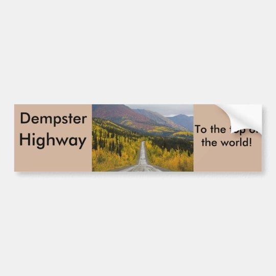 Carretera de Dempster al top del mundo Pegatina Para Coche
