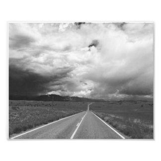 Carretera tempestuosa fotografía