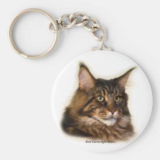 Carretero de Ben aquí… Llavero del gato de Coon de