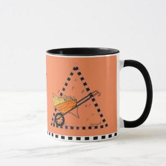 Carretilla del otoño taza