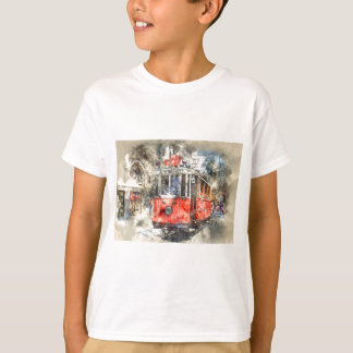 Carretilla del rojo de Estambul Turquía Camiseta