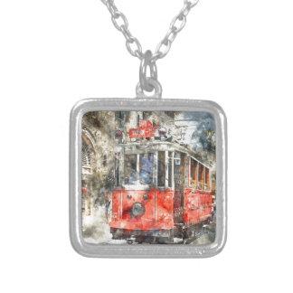 Carretilla del rojo de Estambul Turquía Collar Plateado