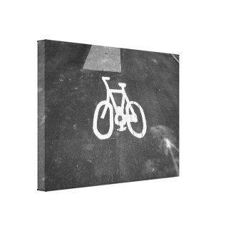 Carril de bicicleta impresiones en lienzo estiradas