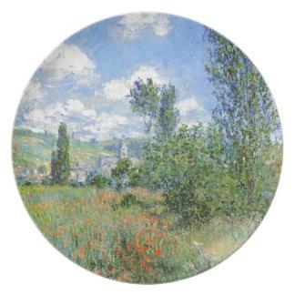 Carril en los campos de la amapola - Claude Monet Platos