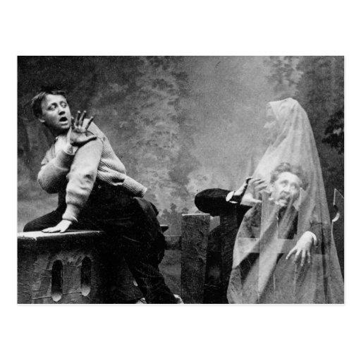 Carril frecuentado - foto 1880 del fantasma del vi tarjetas postales