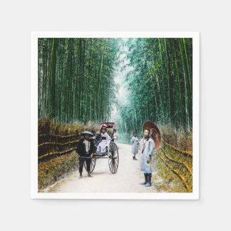 Carrito en el camino al vintage de Kyoto Japón Servilletas De Papel