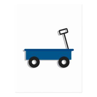 Carro azul postal