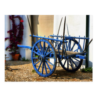 Carro azul postales