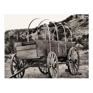 Carro cubierto viejo postal
