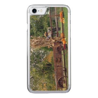 Carro de antaño de la granja de la escena de la funda para iPhone 7 de carved