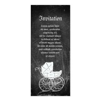 Carro de bebé gótico invitación 10,1 x 23,5 cm