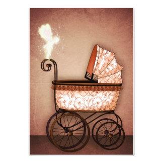 Carro de bebé invitación 12,7 x 17,8 cm