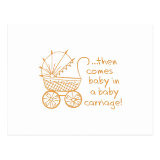 ¡Carro de bebé! Postal