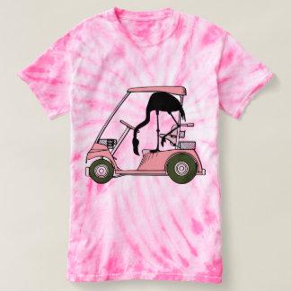 Carro de golf divertido del flamenco camiseta