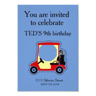 Carro de golf invitación 8,9 x 12,7 cm