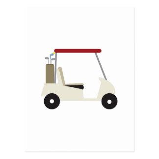Carro de golf postal