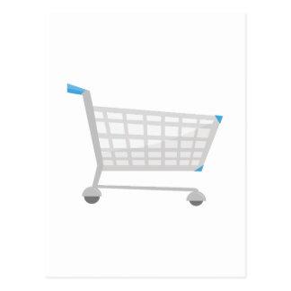 Carro de la compra tarjetas postales