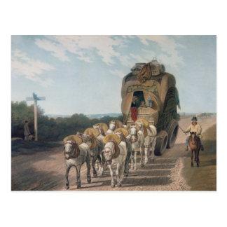 Carro de la etapa, grabado por J. Baily Tarjetas Postales