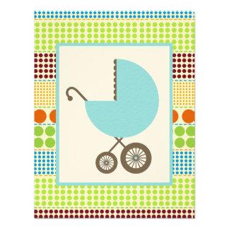 Carro de la fiesta de bienvenida al bebé del comunicados personales