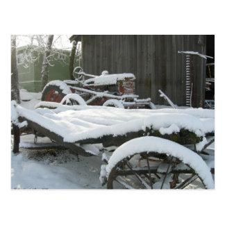 Carro de la nieve postal