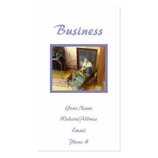 Carro de las violetas pintado azul tarjeta personal
