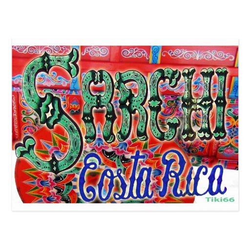 Carro de Sarchi Costa Rica Tarjeta Postal
