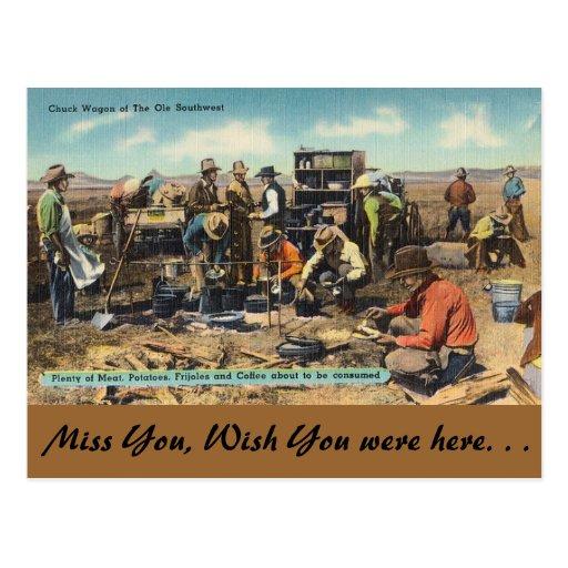 Carro de tirada del sudoeste viejo postal