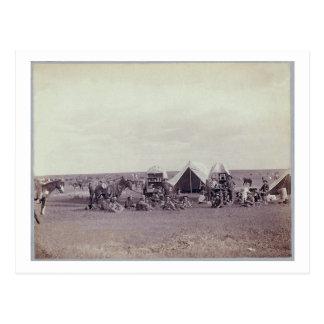 Carro de tirada tarjetas postales