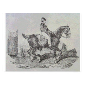 Carro del caballo de Theodore Gericault Postal