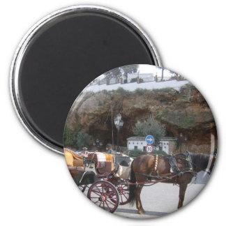 Carro del caballo en Mijas Imán Redondo 5 Cm