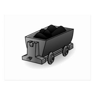 Carro del carbón postal