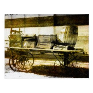 Carro del equipaje tarjeta postal