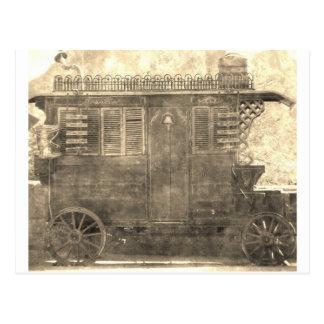 Carro del gitano del vintage postal