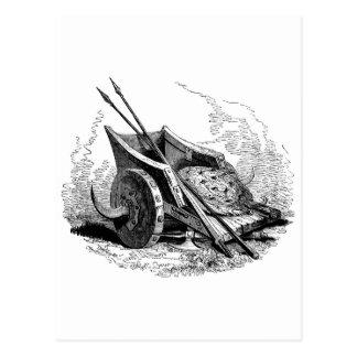 carro del guerrero de la fantasía postales