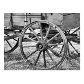 Carro del oeste viejo postal