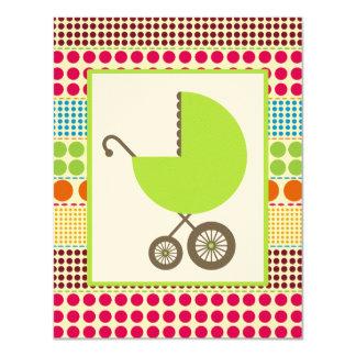 Carro del verde de la fiesta de bienvenida al bebé comunicados personales
